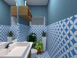 Lavabo: Banheiros campestres por Atelie 3 Arquitetura