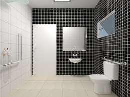 Banheiro PNE: Banheiros campestres por Atelie 3 Arquitetura