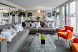 modern Living room by niche pr