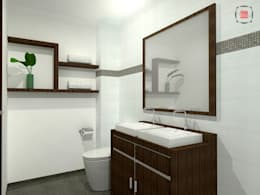 modern Bathroom by JELKH Design Architects s.a.s