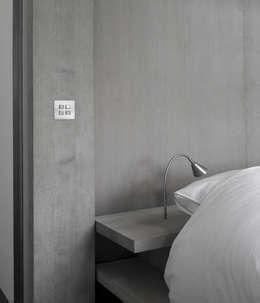 Detail Bed: minimalistische Slaapkamer door Jen Alkema architect