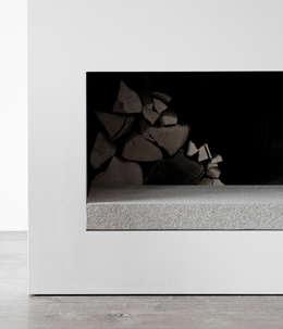 Detail Fireplace: minimalistische Woonkamer door Jen Alkema architect