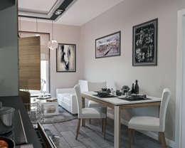 Дизайн-интерьера квартиры в Москве 50м2: Кухни в . Автор – СИРИУS Архитектурное бюро