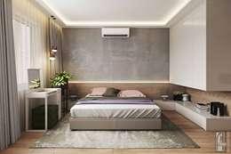 غرفة نوم تنفيذ СВЕТЛАНА АГАПОВА ДИЗАЙН ИНТЕРЬЕРА