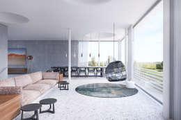 modern Living room by destilat Design Studio GmbH