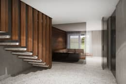 Corridor & hallway by destilat Design Studio GmbH