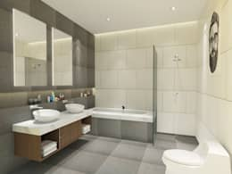 Projekty,  Łazienka zaprojektowane przez SIAMTAK CO., LTD.