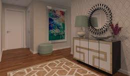 modern Corridor, hallway & stairs by Veludo Vermelho Design de Interiores