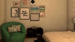 Dormitorios de estilo  por Ana Andrade - Design de Interiores