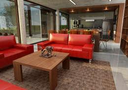 Salas / recibidores de estilo moderno por unoenseis Estudio