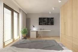 غرفة نوم تنفيذ INNers - architektura wnętrza