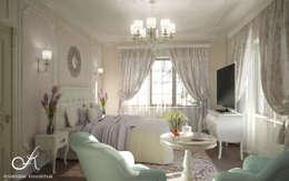 غرفة نوم تنفيذ Design studio by Anastasia Kovalchuk