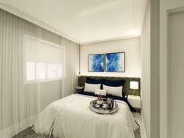 Apartamento Tons da Villa I: Quartos  por Daniela Simões Arquitetura e Interiores