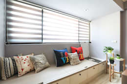 Projekty,  Salon zaprojektowane przez 微自然室內裝修設計有限公司