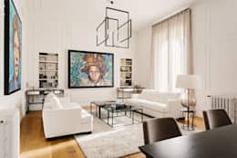 Projekty,  Salon zaprojektowane przez NOMADE ARCHITETTURA E INTERIOR DESIGN