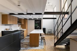 LOFT N: Cucina in stile in stile Industriale di NOMADE ARCHITETTURA E INTERIOR DESIGN