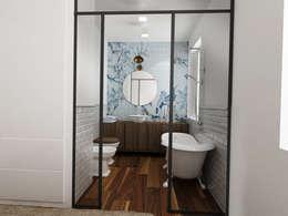 Baños de estilo industrial por Euga Design Studio
