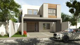 Fachadas: Casas de estilo moderno por GA-Arquitecto