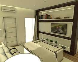 projeto-decoracao-design-interiores-casa-sobrado-estilo-moderno-alto-padrao: Quartos  por Caio Pelisson - Arquitetura e Design