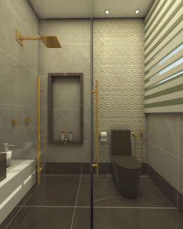 projeto-decoracao-design-interiores-casa-sobrado-estilo-moderno-alto-padrao: Banheiros modernos por Caio Pelisson - Arquitetura e Design