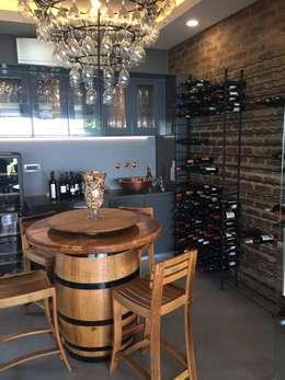House Verster - Johannesburg : modern Wine cellar by Graftink Interior and Architectural Design Studio