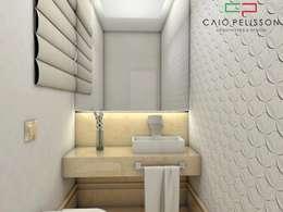 Casa Alto Padrão Luxuosa: Banheiros modernos por Caio Pelisson - Arquitetura e Design
