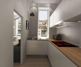 Cucinino: Cucina in stile in stile Moderno di Euga Design Studio