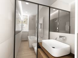 bagno : Bagno in stile in stile Moderno di Euga Design Studio