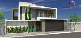 Fachada Residencial: Casas modernas por  Mariana Nicoletti - Arquiteta