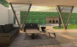 Jardines de estilo moderno por Interiorista Teresa Avila
