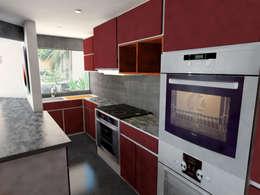 Aguascalientes 41: Cocinas de estilo moderno por Kontrast Arquitectos