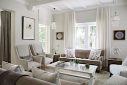 Formal sitting room: eclectic Living room by Natalie Bulwer Interiors