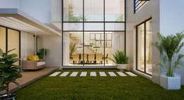 Jardines de estilo moderno por Flávia Kloss Arquitetura de Interiores