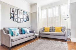 غرفة المعيشة تنفيذ fleur ward interior design