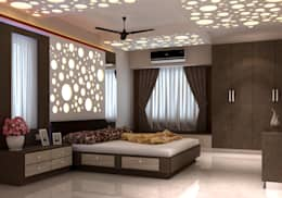 Room 1, View 1: modern Bedroom by Ankit Goenka
