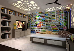 Room 1, View 2a: modern Bedroom by Ankit Goenka