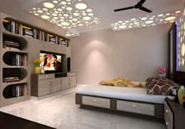 Room 1, View 2b: modern Bedroom by Ankit Goenka