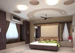 Room 2, View 2: modern Bedroom by Ankit Goenka