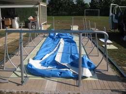 La construcci n de una piscina que cost euros paso - Aquazzura piscine ...