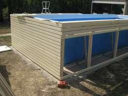 Piscina fuori terra in legno realizzata con soli - Quanto costa mantenere una piscina fuori terra ...