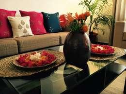 غرفة المعيشة تنفيذ Aditi Morayya
