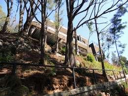 casa Balmaceda - Fontaine: Casas de estilo moderno por David y Letelier Estudio de Arquitectura Ltda.