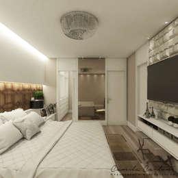 Recámaras de estilo moderno por Camila Carloni - Arquitetura e Interiores