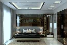 Interiors : modern Bedroom by Aanchal Arora Homify