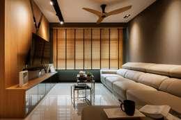 غرفة المعيشة تنفيذ Posh Home Interior Design