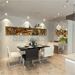 : modern Dining room by Space Design Group