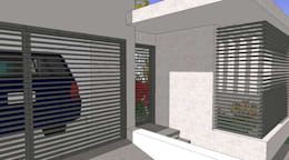 Acceso: Casas de estilo moderno por MARATEA Estudio