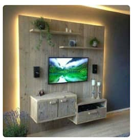 Sala multimedia de estilo  por Pallet Furniture Cape Town