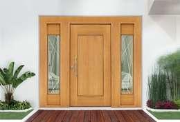 MULTIDISEÑOS CON FJOS LATERALES: Puertas y ventanas de estilo moderno por Lens Puertas de Aluminio.
