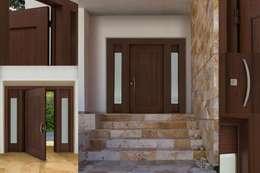 Puerta Multidiseños: Puertas y ventanas de estilo moderno por Lens Puertas de Aluminio.